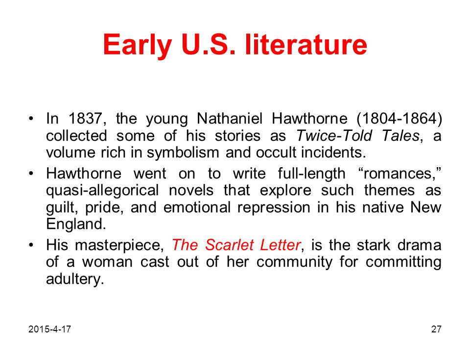 Early U.S. literature