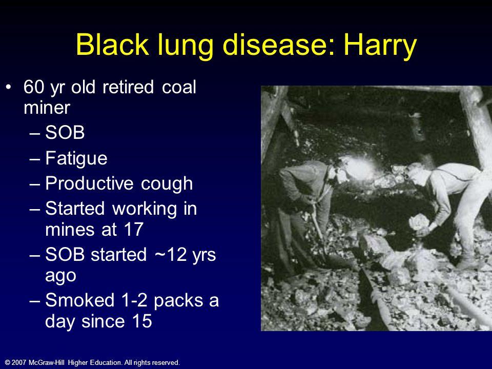 Black lung disease: Harry