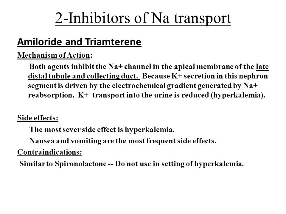 2-Inhibitors of Na transport