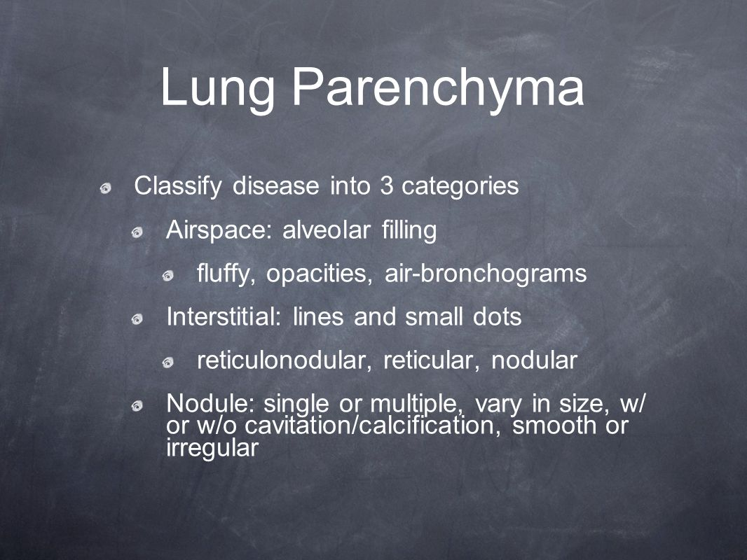 Lung Parenchyma Classify disease into 3 categories