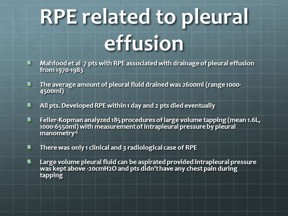 RPE related to pleural effusion