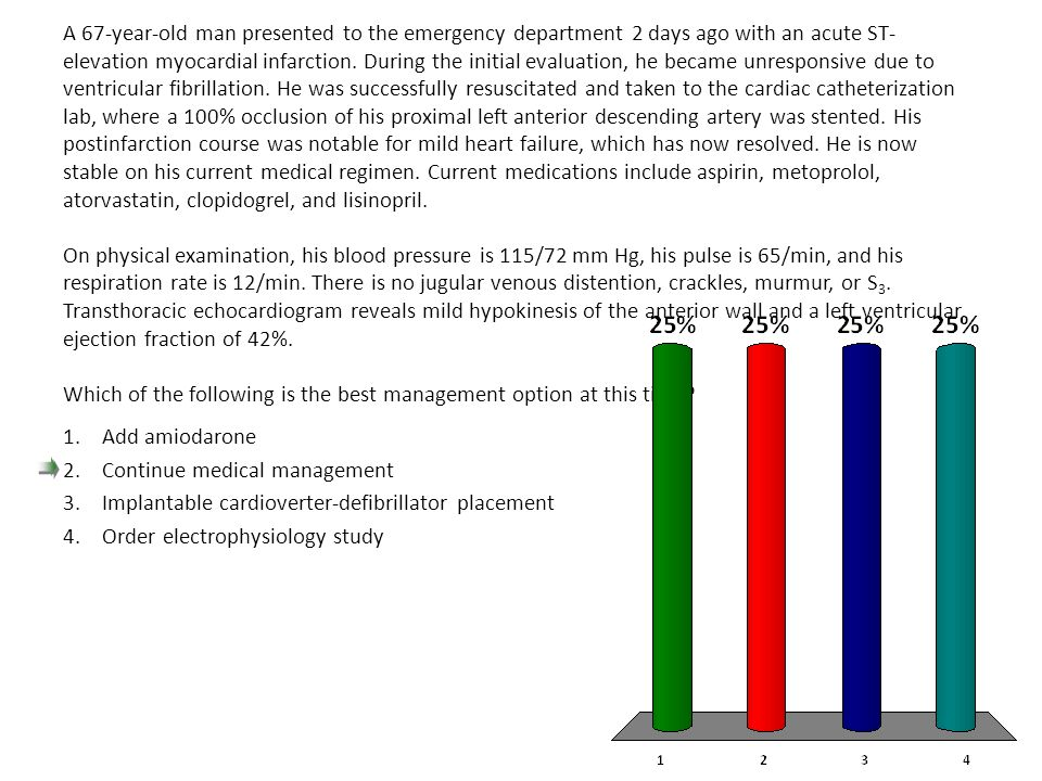 Continue medical management