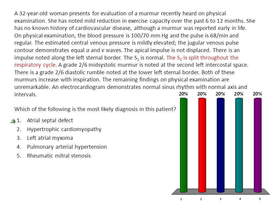 Hypertrophic cardiomyopathy Left atrial myxoma