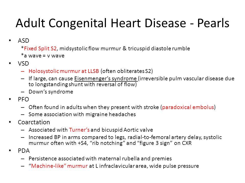 Adult Congenital Heart Disease - Pearls