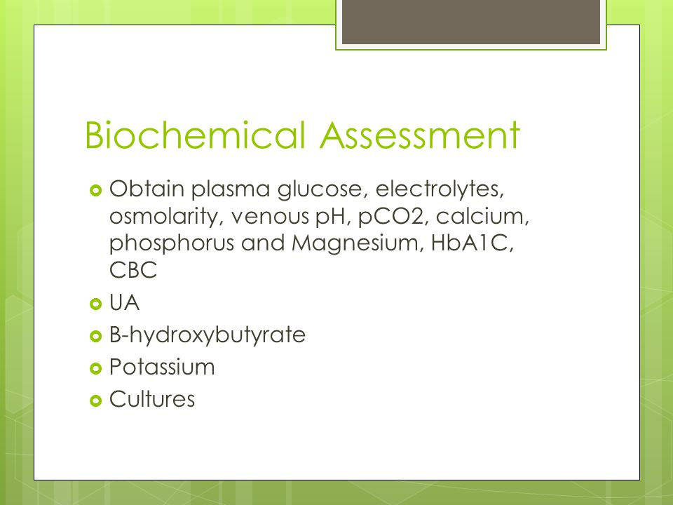Biochemical Assessment