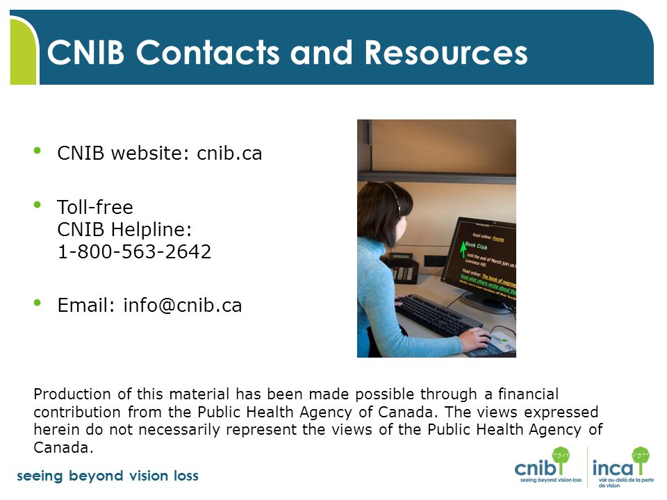 CNIB Contacts and Resources