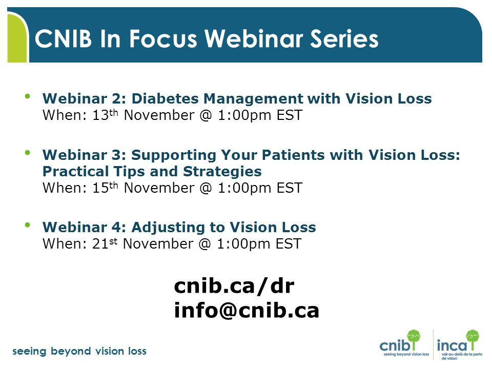 CNIB In Focus Webinar Series