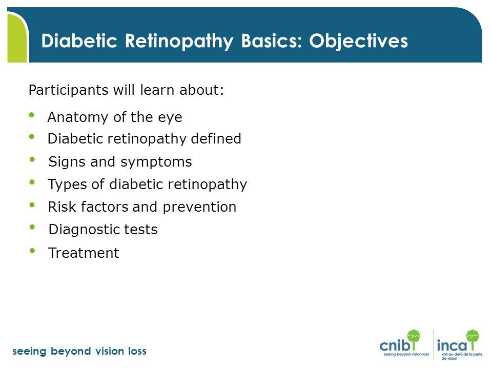 Diabetic Retinopathy Basics: Objectives
