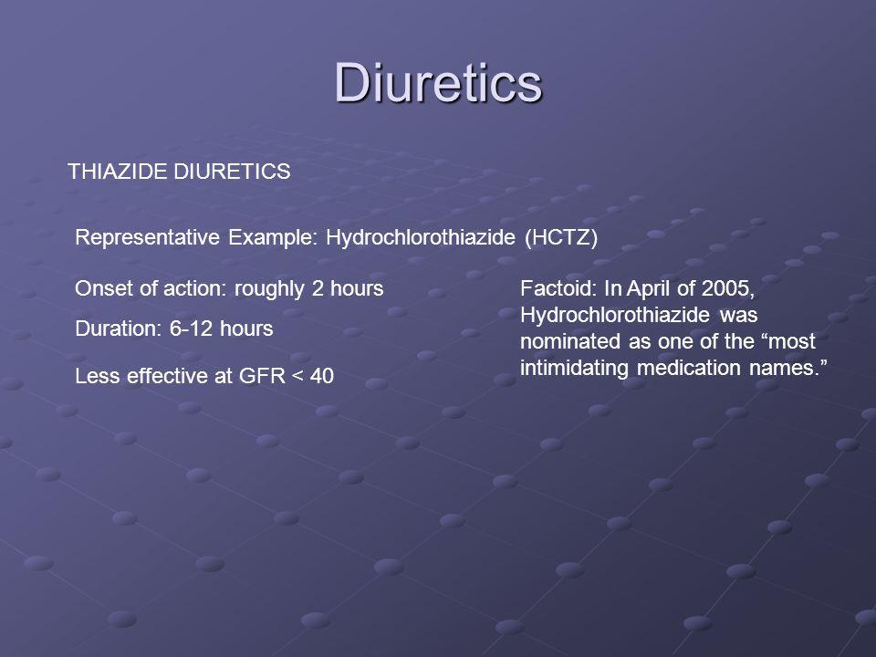 Diuretics THIAZIDE DIURETICS