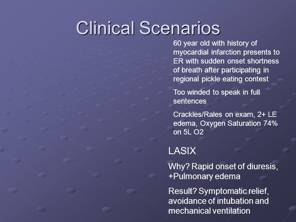 Clinical Scenarios LASIX