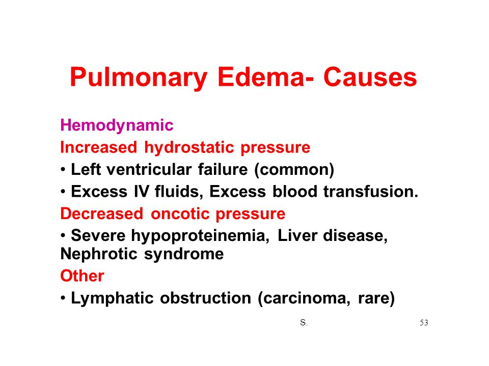Pulmonary Edema- Causes