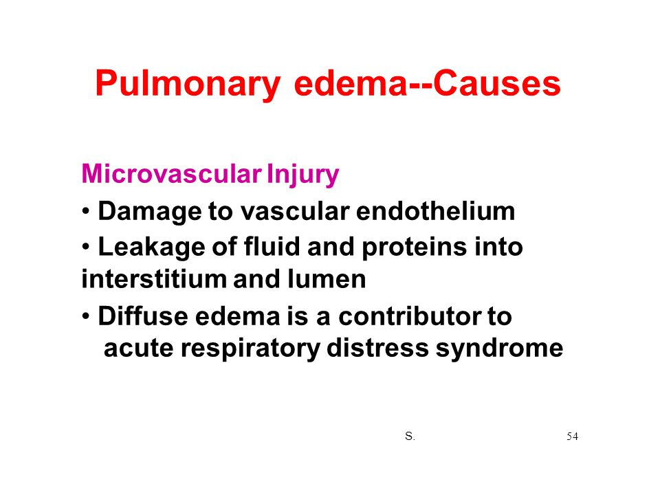 Pulmonary edema--Causes