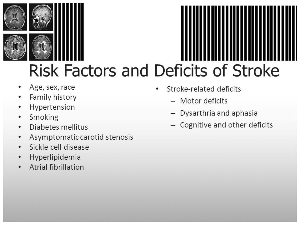 Risk Factors and Deficits of Stroke