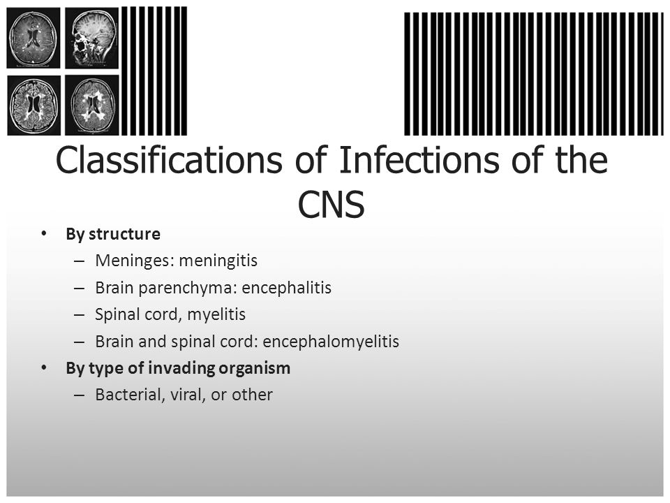 Classifications of Infections of the CNS