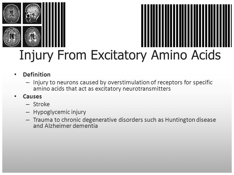 Injury From Excitatory Amino Acids