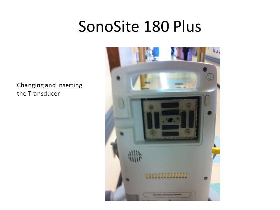SonoSite 180 Plus Changing and Inserting the Transducer