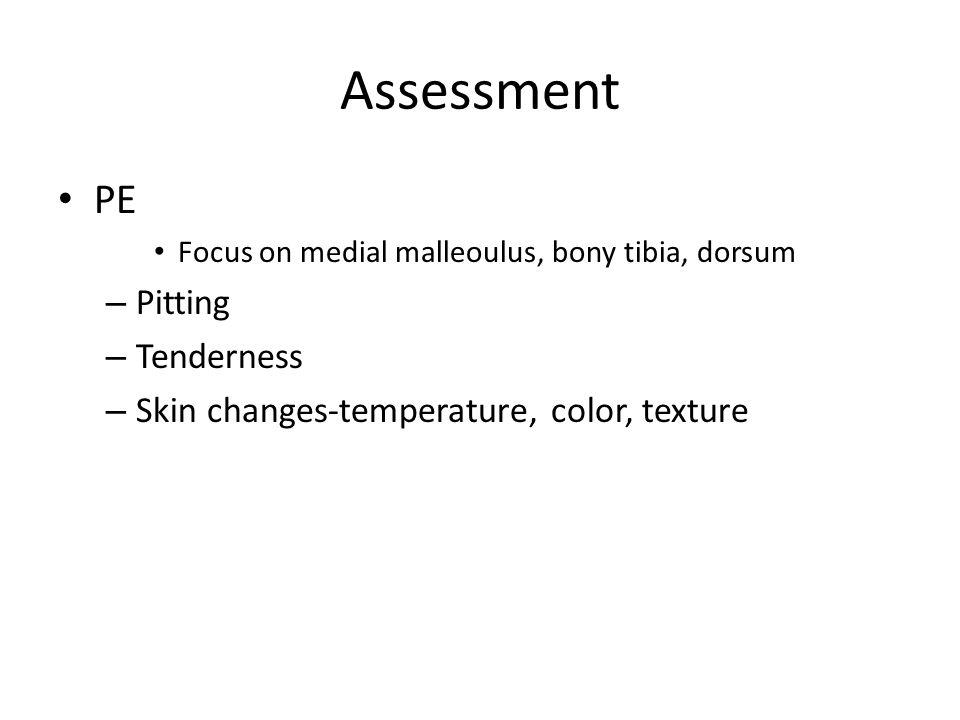 Assessment PE Pitting Tenderness