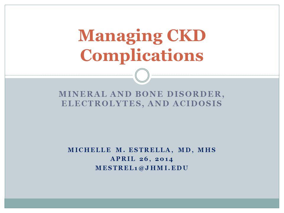 Managing CKD Complications