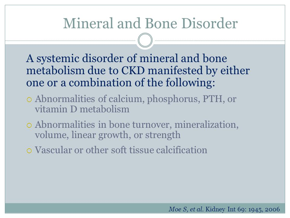 Mineral and Bone Disorder