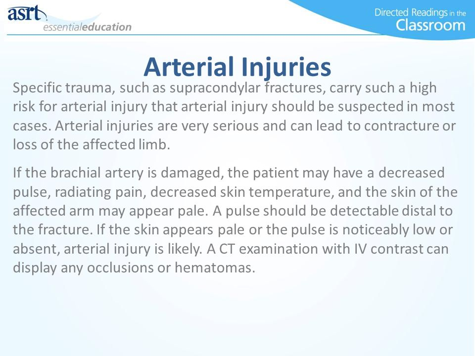 Arterial Injuries