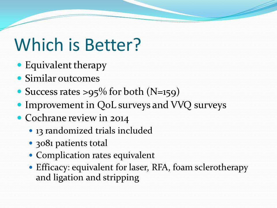 Which is Better Equivalent therapy Similar outcomes