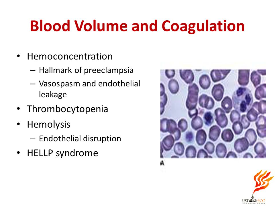 Blood Volume and Coagulation