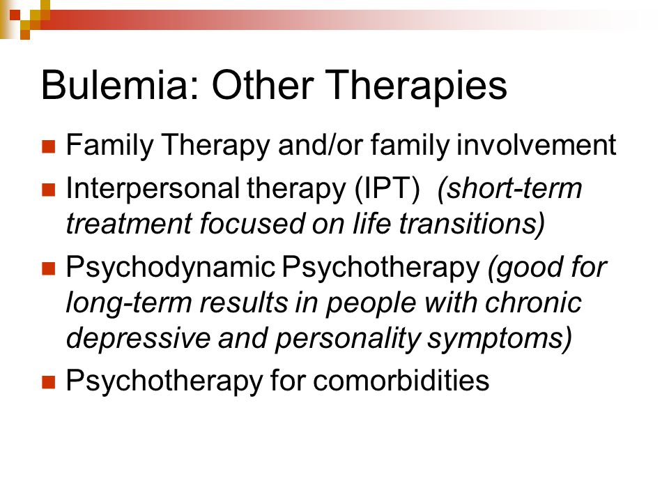 Bulemia: Other Therapies