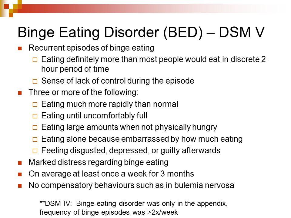 Binge Eating Disorder (BED) – DSM V