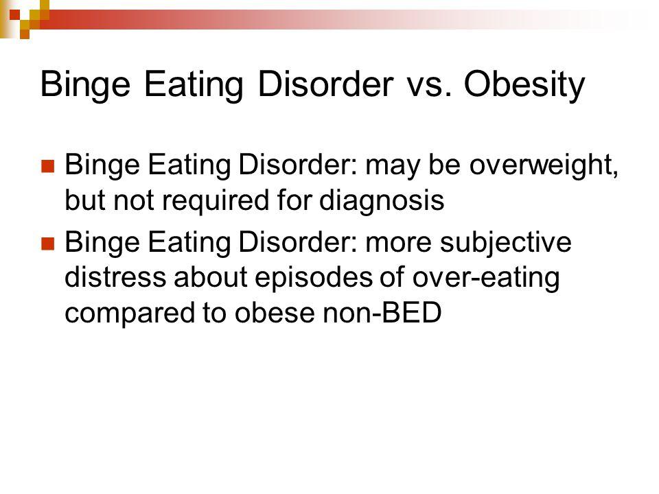 Binge Eating Disorder vs. Obesity