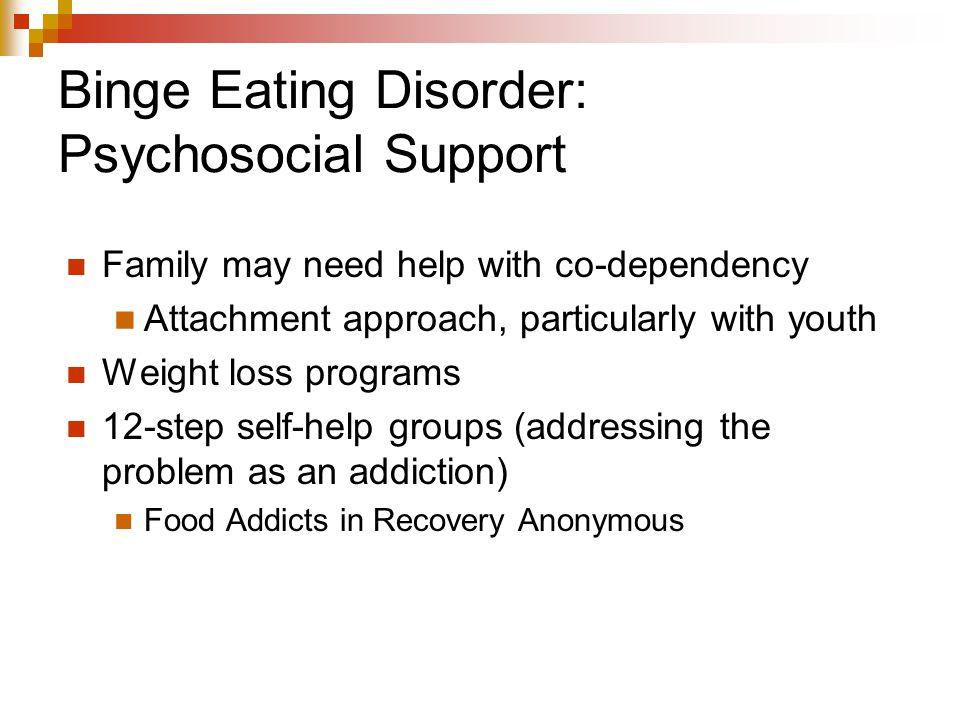 Binge Eating Disorder: Psychosocial Support