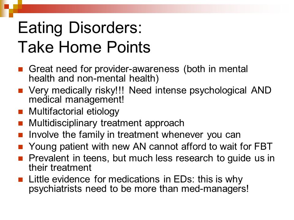 Eating Disorders: Take Home Points