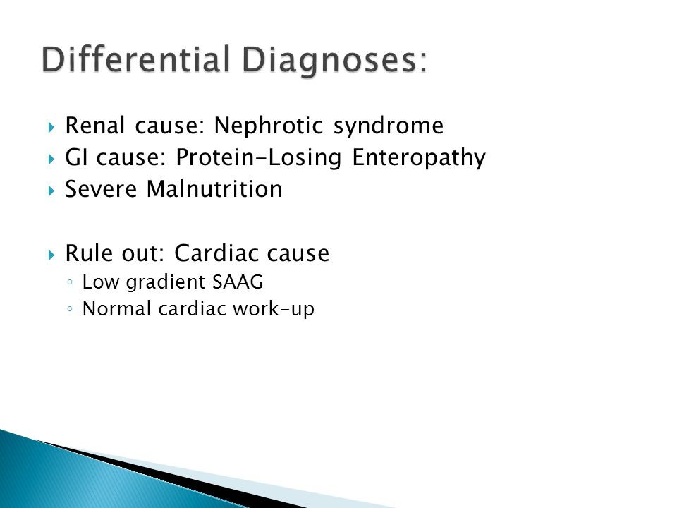 Differential Diagnoses: