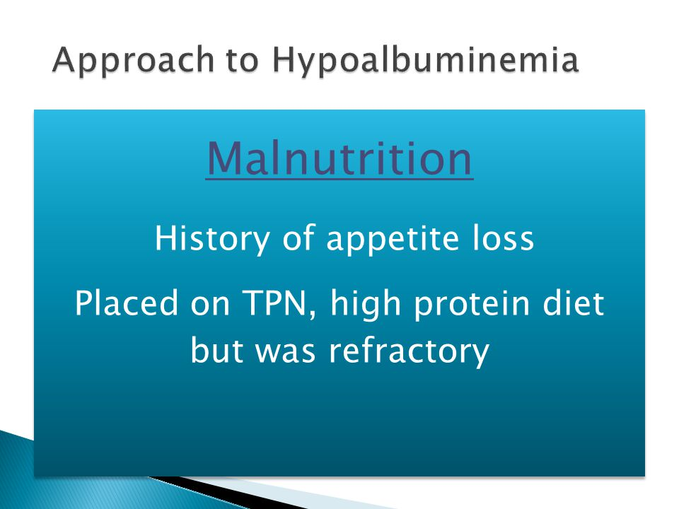 Approach to Hypoalbuminemia