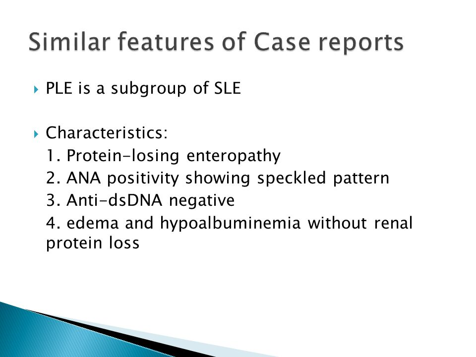 Similar features of Case reports
