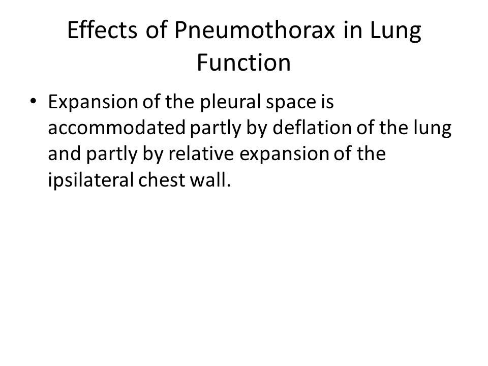 Effects of Pneumothorax in Lung Function