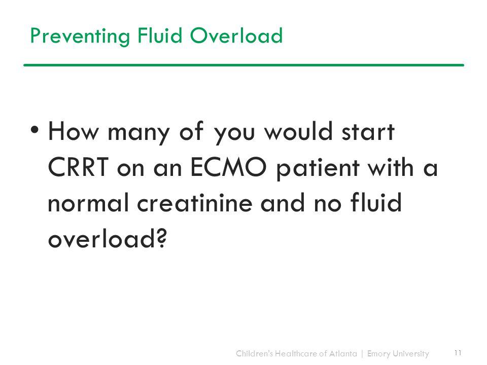 Preventing Fluid Overload