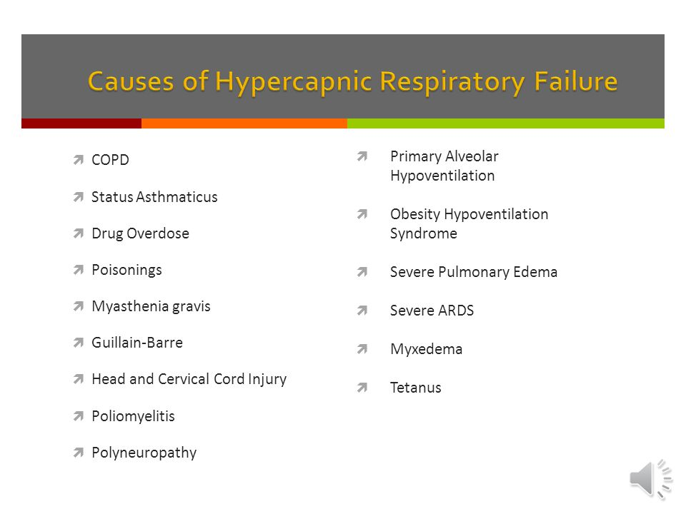 Causes of Hypercapnic Respiratory Failure