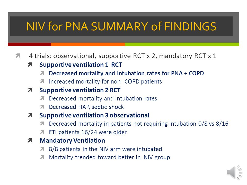 NIV for PNA SUMMARY of FINDINGS