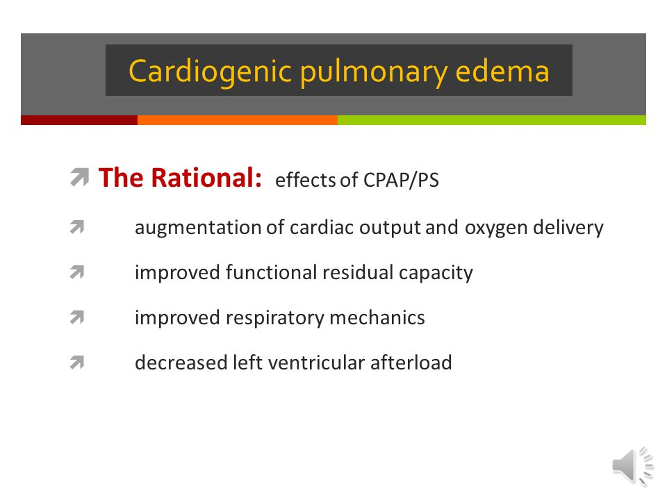 Cardiogenic pulmonary edema