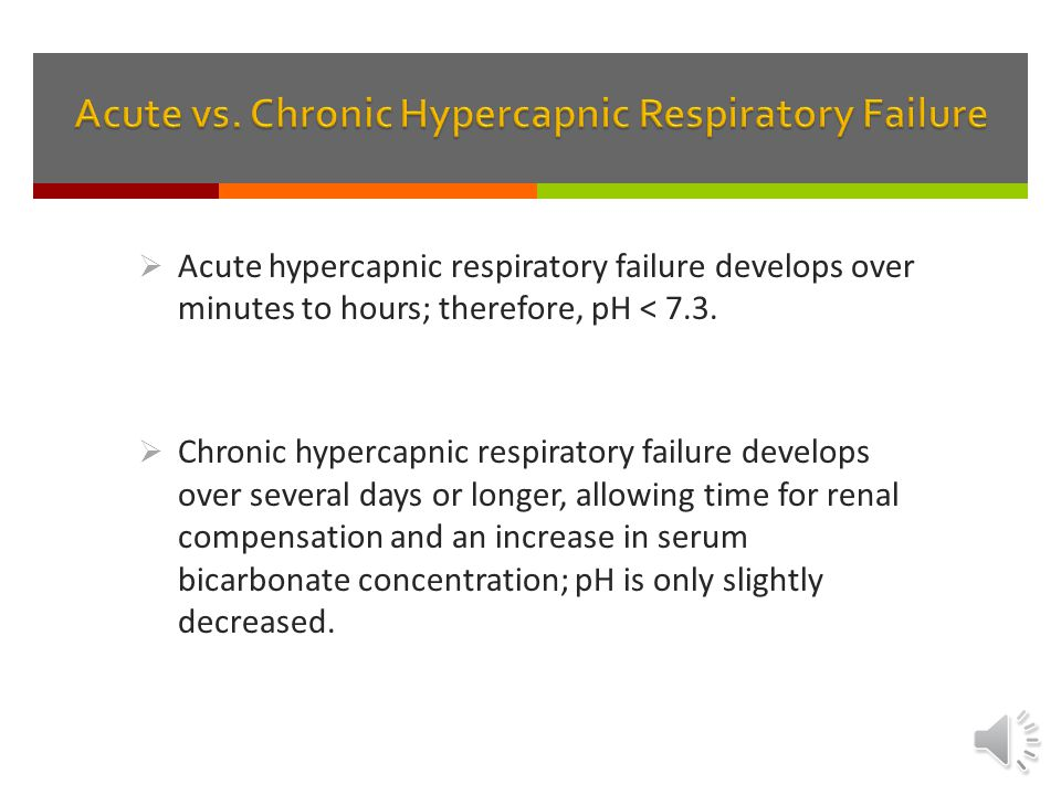 Acute vs. Chronic Hypercapnic Respiratory Failure