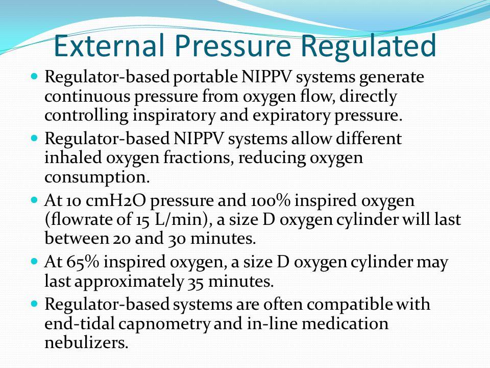 External Pressure Regulated