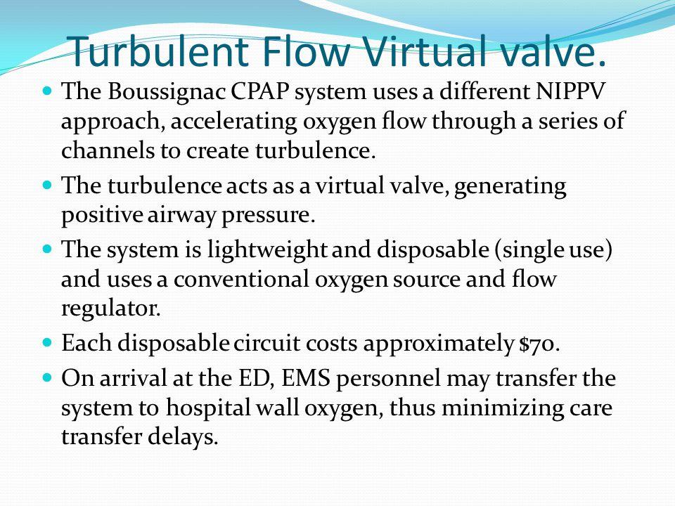 Turbulent Flow Virtual valve.