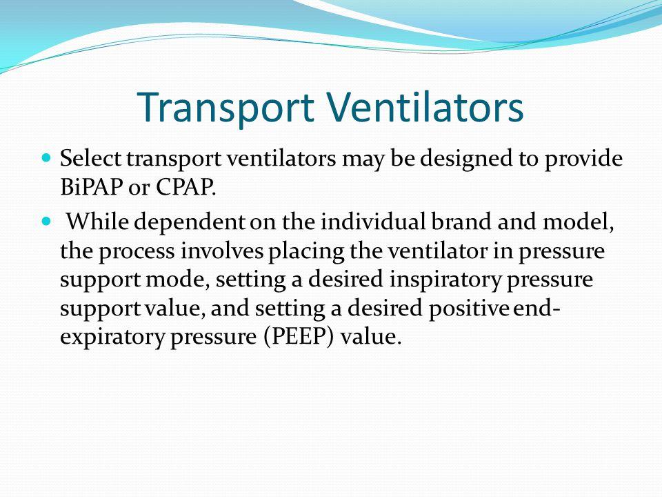 Transport Ventilators