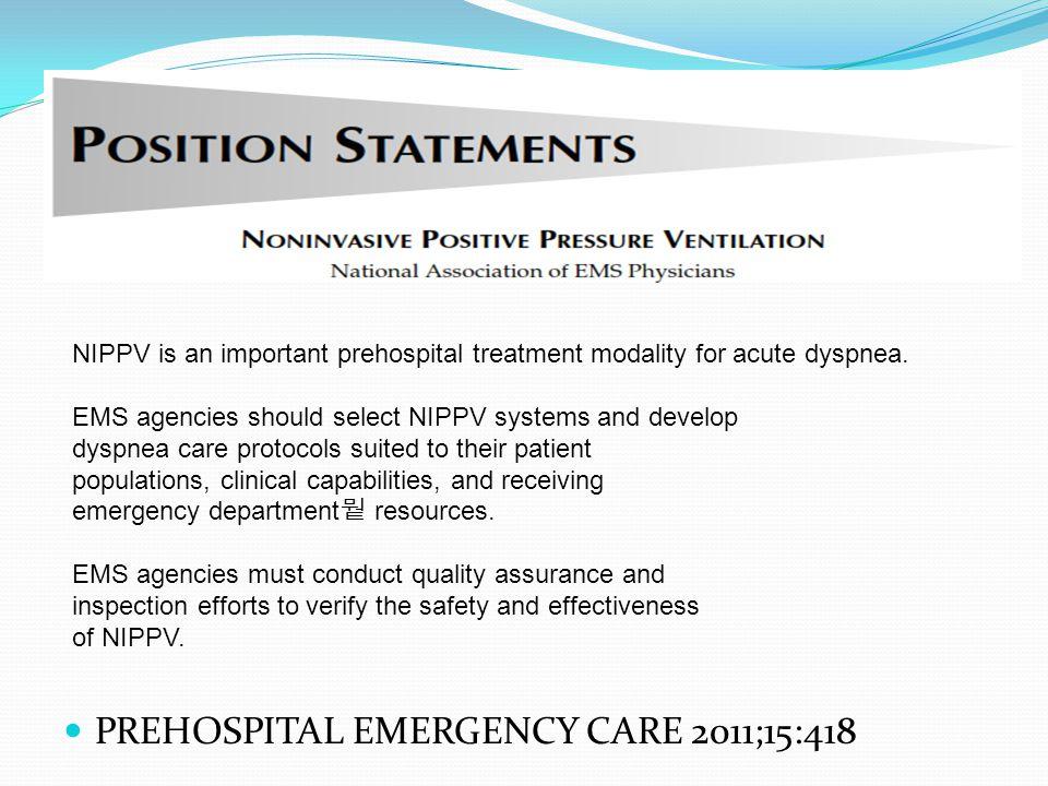 PREHOSPITAL EMERGENCY CARE 2011;15:418
