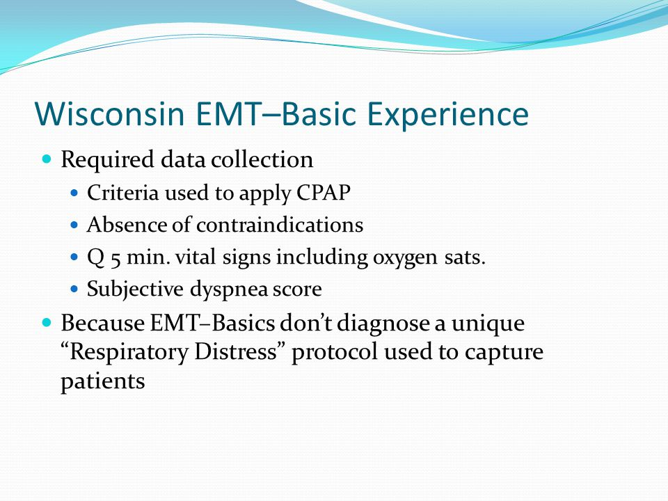 Wisconsin EMT–Basic Experience