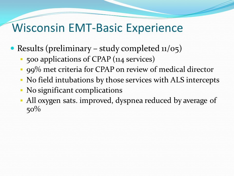 Wisconsin EMT-Basic Experience