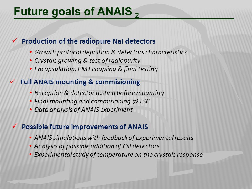 Future goals of ANAIS 2 Production of the radiopure NaI detectors