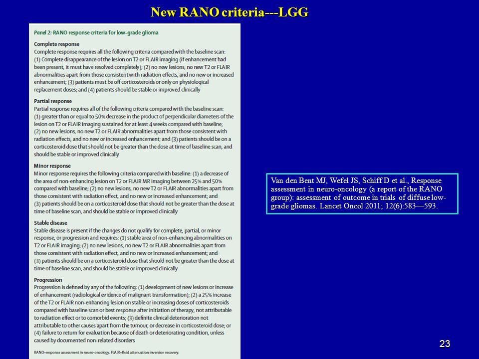 New RANO criteria---LGG