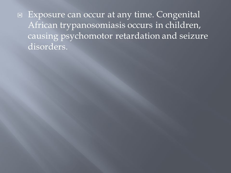 Exposure can occur at any time