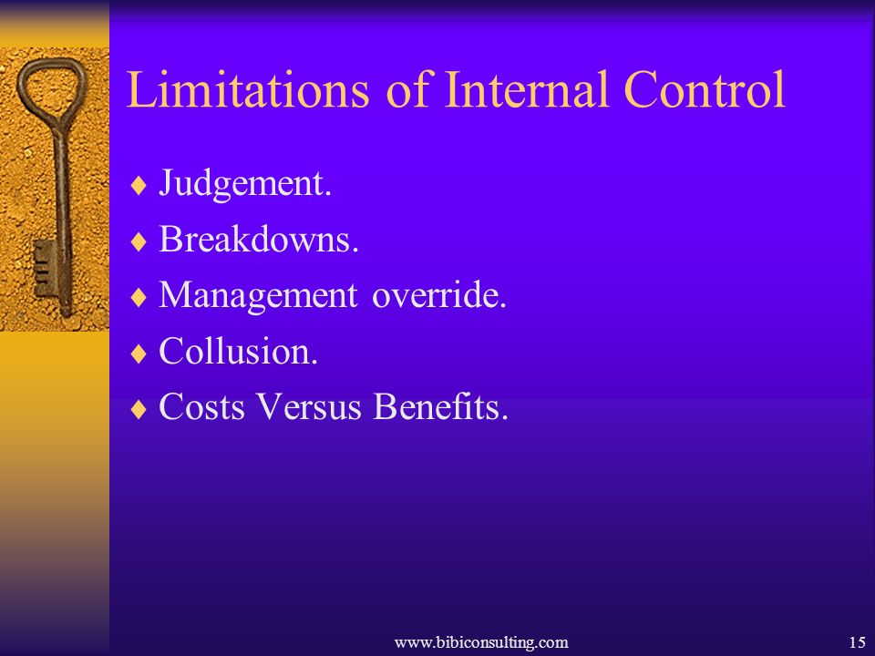 Limitations of Internal Control